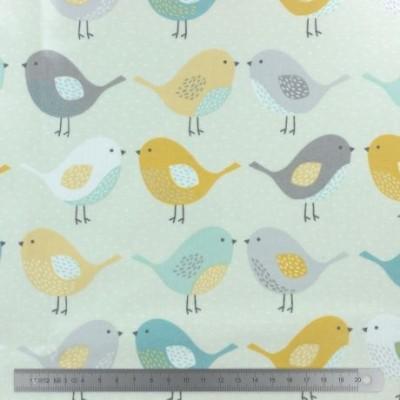 TOILE ENDUITE FRYETT'S BIRDS OCRE