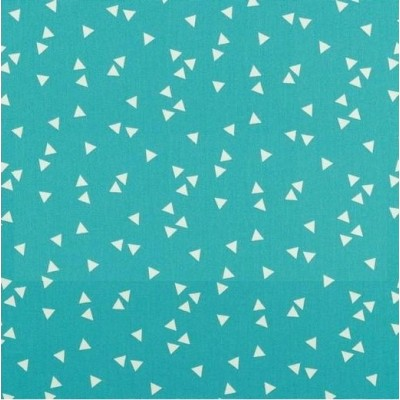 TOILE ENDUITE TRIANGLES TURQUOISE