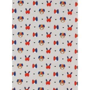 COUPON TISSU PETITES TETES 100 x 150 CM