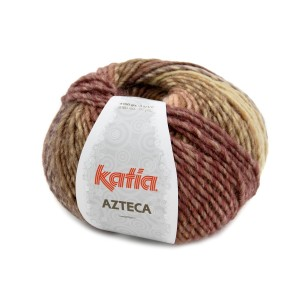 AZTECA MARRON ORANGE ECRU LILAS