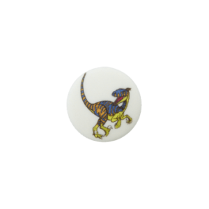 BOUTON POLYESTER PIED DINO COL 90