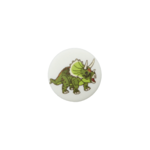 BOUTON POLYESTER PIED DINO COL 901