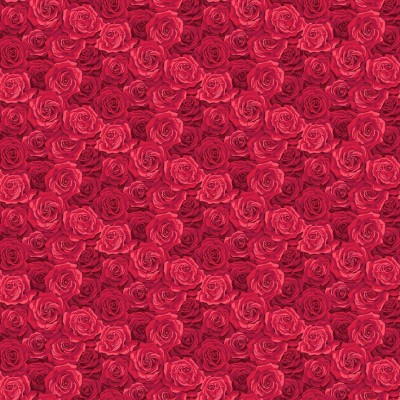 SUMMER GARDEN PACKED ROSE RED