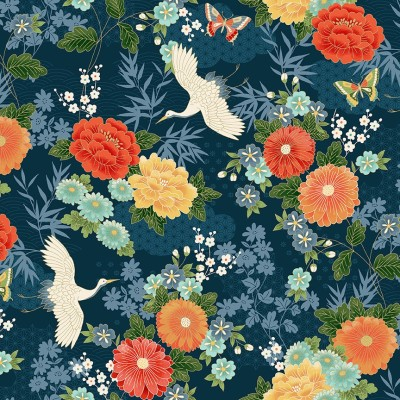 MICHIKO LARGE FLORAL BLUE