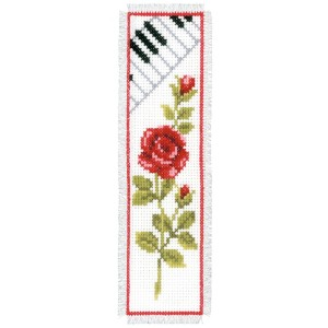 KIT MARQUE PAGE ROSE AVEC CLAVIER PIANO AIDA