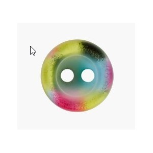 BOUTON POLYESTER 2 TROUS MULTI COLORE