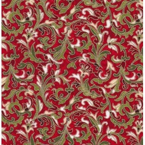 CHRISTMAS YULETIDE BAROQUE RED