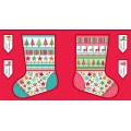 FESTIVE NOVELTY STOCKING PANEL
