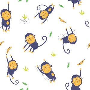 POPELIN JUMPING MONKEYS P34