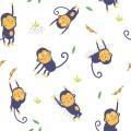 POPELIN JUMPING MONKEYS P34
