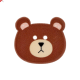 BOUTON OURS