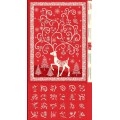 REINDEER ADVENT RED